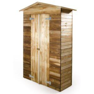 Armadio da giardino in legno impregnato CM 135 X 61 X 201 - VERDELOOK