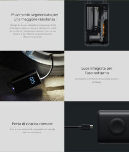 Pompa ad aria elettrica portatile - Xiaomi Mi Portable Air Pump